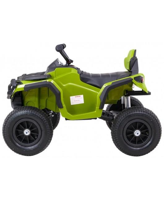 Elektrická štvorkolka Quad ATV nafukovacie kolesá zelená